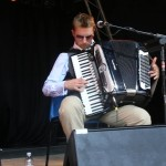 Accordionist Mirek Salmon of Moscow Drug Club